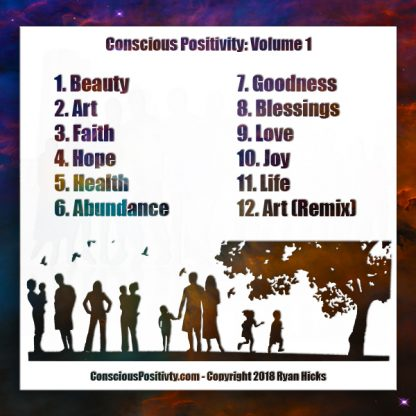 Conscious Positivity Volume 1 Back Cover